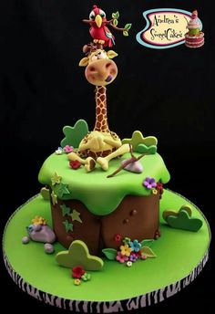 How cute animals cake!_ y Andrea's Sweet Cakes