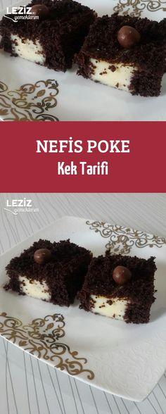 Nefis Poke Kek Tarifi Recipe For Success, Chocolate Cake, Donuts, Rice Recipes, Tea Time, Ham, Treats, Yummy Food, Sweet