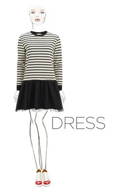 """""""#longsleevedress"""" by rigersa3 ❤ liked on Polyvore featuring RED Valentino, Charlotte Olympia and longsleevedress"""