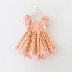 We love this new peach dress. Perfect for special occasions and family photos! Such a dreamy and whimsical look is created with this dress. This polka dot girl and toddler dress is running true to size. Girls Fancy Dresses, Polka Dot Summer Dresses, Girls Easter Dresses, Tutus For Girls, Easter Dresses For Toddlers, Toddler Tutu, Toddler Girl Outfits, Toddler Fashion, Kids Outfits