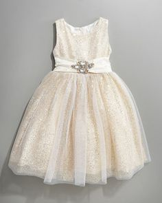 Sequin & Tulle Dress by Zoe at Neiman Marcus.