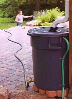 DIY rain barrel - do this when I get gutters installed.