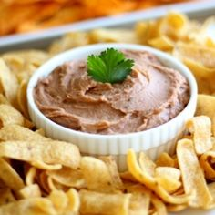 Copycat Fritos Bean Dip that tastes EXACTLY like the real thing.