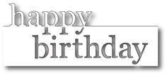 Memory Box - Die - Grand Happy Birthday,$13.49