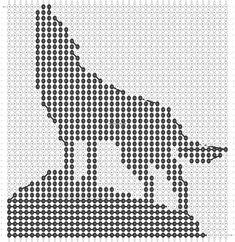 Alpha friendship bracelet pattern added by puppydog. Beaded Jewelry Patterns, Bracelet Patterns, Beading Patterns, Filet Crochet, Crochet Chart, Cross Stitching, Cross Stitch Embroidery, Cross Stitch Patterns, Plastic Canvas Crafts