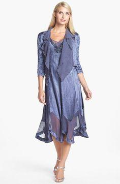 Komarov Embellished Charmeuse Dress & Jacket (Regular & Petite) | Nordstrom