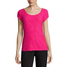 FREE SHIPPING AVAILABLE! Buy Liz Claiborne® Short-Sleeve Textured Knit T-Shirt at JCPenney.com today and enjoy great savings.