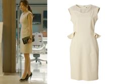 The Izzat Collection Off-White Dress with Ruffles
