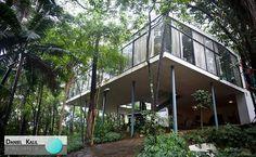 Casa de Vidro, da arquiteta Lina Bo Bardi.  Construída em uma das mais altas colinas do bairro Morumbi, em São Paulo, a Casa de Vidro despertou a curiosidade da sociedade dos anos 50. Atualmente, a casa abriga o Instituto Lina e P. M. Bardi, e possui um rico acervo.