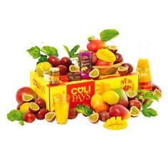 COLIMANGUES PASSION  - Mangues fraiches de La Réunion (Early Gold, Josée…) - Fruits de la passion de La Réunion - Confiture de mangues péi 110 g - Chocolat noir fourré aux fruits de la passion 100 g - Calendrier offert