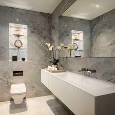 Inspiratie voor een betoncire, mortex of tadelakt badkamer. | Salle ...