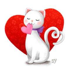 valentine cat loving my fans and family love you  all happy valentines day hope you enjoy love you