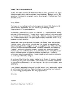 Volunteer Letter Template DesktopVolunteer Letter Template ...