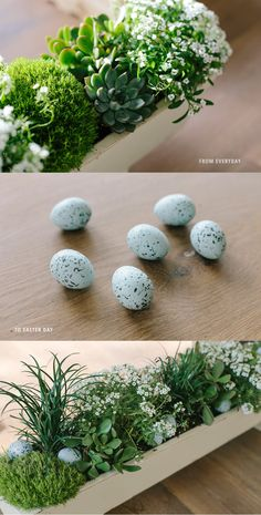 Create a flower box centerpiece for spring with an easy Easter-theme transition. Flower Box Centerpiece, Flower Arrangements, Centerpieces, Easter Centerpiece, Centerpiece Ideas, Easter Party, Easter Table, Easter Decor, Easter Gift