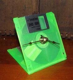 Floppy Disk Clock by DaytonaVintage on Etsy, $27.55