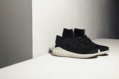 Sizes running out of the Adidas Tubular Doom Primeknit Black.  http://ift.tt/1mYRotz