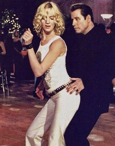 "John Travolta and Uma Thurman at Jack Rabbit Slims in ""Pulp Fiction"""
