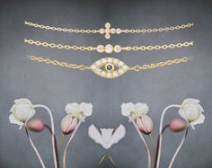 Styling by simonereus showing Evil Eye Bracelet Gold, Delight Triple Shiny Bracelet Gold and Across Shiny Bracelet Gold #jewellery #Jewelry #bangles #amulet #dogtag #medallion #choker #charms #Pendant #Earring #EarringBackPeace #EarJacket #EarSticks #Necklace #Earcuff #Bracelet #Minimal #minimalistic #ContemporaryJewellery #zirkonia #Gemstone #JewelleryStone #JewelleryDesign #CreativeJewellery #OxidizedJewellery #gold #silver #rosegold #hoops #armcuff #jewls #jewelleryInspiration…