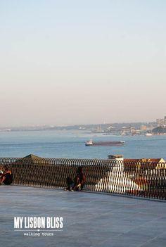 MY LISBON BLISS: MIRADOURO DE SANTA CATARINA ESTÁ DE FATO NOVO Tours, Walking Tour, Great View, Terrace, Bliss, Portugal, City, Santa Catarina, Viajes