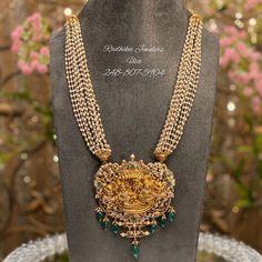 Emerald Jewelry, Pearl Jewelry, Beaded Jewelry, Gold Jewelry, Jewelery, Indian Bridal Jewelry Sets, Indian Jewelry, Indian Necklace, Gold Jewellery Design