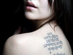 Find the most amazing 10 Best Sanskrit Tattoo Designs in this post. Writing Tattoos, Sanskrit Tattoo, Latest Tattoos, Tattoos For Women, Body Art, Tattoo Quotes, Tattoo Designs, Female Tattoos, Body Mods