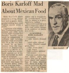 Guacamole Boris Karloff