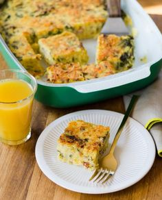 Recipe: Breakfast Polenta Squares with Spinach & Bacon   Kitchn