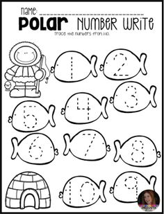 Penguin Activities, Centers and Crafts for Preschool and Kindergarten - Kindergarten Rocks Resources - - There are so many fun themes and activities that I love to use in the long winter months of Wisconsin. One of my favorites is…. Numbers Preschool, Free Preschool, Preschool Printables, Preschool Lessons, Preschool Worksheets, Preschool Learning, Math Activities, Preschool Winter, Teaching