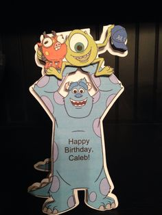 Sully & Mike stand-up birthday card