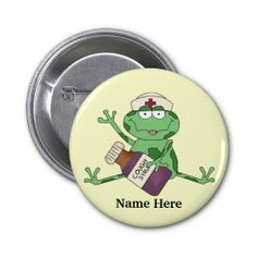 Nurse Frog Button.. i want this!!