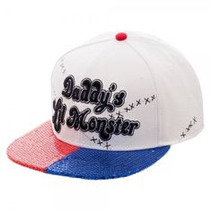 Harley Quinn Daddy's Lil Monster Baseball cap from the hit movie Suicide Squad! - Authentic DC Comics Merchandise - Original Snapback - Adult Size Hat - Product Dimensions: 58cm - Hand wash cold, lay