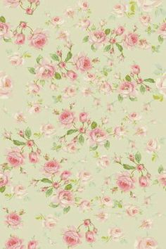 Pink roses on pale green.  Picture only.  The resolution doesn't allow this to be blown up very big, but it would make a pretty gift tag.  I'd use scalloped scissors and trim the edge with a gold metallic marker.