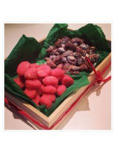 Brända mandlar, sockriga och rosa - Ett recept från Mat&Mera