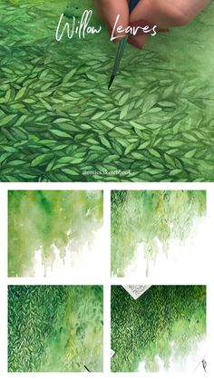 Mini watercolor tutorial of willow leaves with step by step process photos. Mini watercolor tutorial of willow leaves with step by step process photos. Galaxy Painting, Watercolour Painting, Painting & Drawing, Artist Painting, Art Paintings, Watercolors, Watercolor Leaves, Watercolor Artists, Watercolor Portraits