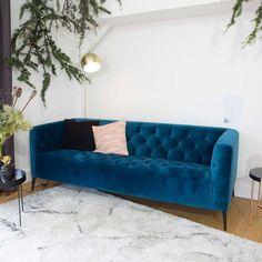 14 meilleures images du tableau canapé bleu canard | Blue couches ...