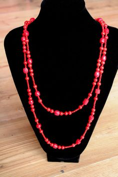 Handmade Blood red coral multi shaped by OurSerendipityStones $100