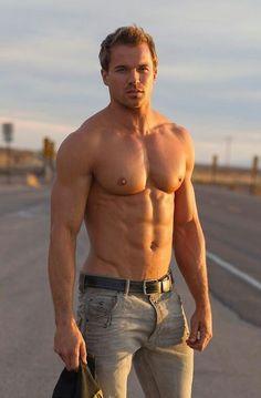Chris Ryan © ROB LANG roblangimages.com # cowboy model chaps shirtless male fitness