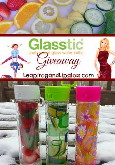 Glasstic Water Bottle #Giveaway PLUS Infused Water Recipes!