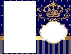 kit festa infantil totalmente grátis o tema realeza com as cores azul marinho e cinza O Kit festa infantil é Realeza com as cores, azul. Prince Birthday, Prince Party, Baby Prince, Baby Boy Birthday, Bday Invitation Card, Baby Shower Invitations, Birthday Invitations, Baby Boy Cards, Kairo