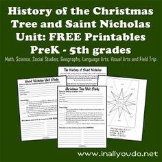 Free Christmas Tree and Saint Nicholas Unit Study