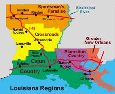 Louisiana.  Nice breakdown of the State that I'd not seen before.  Interesting.
