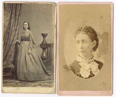1860's & 1870's CDV nice example of fashion sleeve and jabot