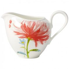 Villeroy & Boch Anmut Flowers Creamer Home - Bloomingdale's Serveware, Tableware, Villeroy, Coffee Creamer, Ceramic Painting, Serving Platters, Fine China, Decoration, Color Splash