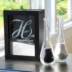 This is gorgeous and also a unique way to always have a piece of your wedding ceremony tied in with your home decor!