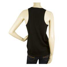Zadig & Voltaire MARLY BIS M Black Sleeveless Merino wool Tank Top Blouse sz S