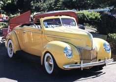 1939 Ford Deluxe Convertible Buttery Yellow So Nice #Fordclassiccars #Cadillacclassiccars