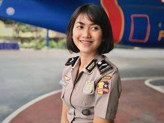 Military Women, Women Police, Indonesian Women, Real Women, Captain Hat, Hair Styles, Cute, Beautiful, Girls