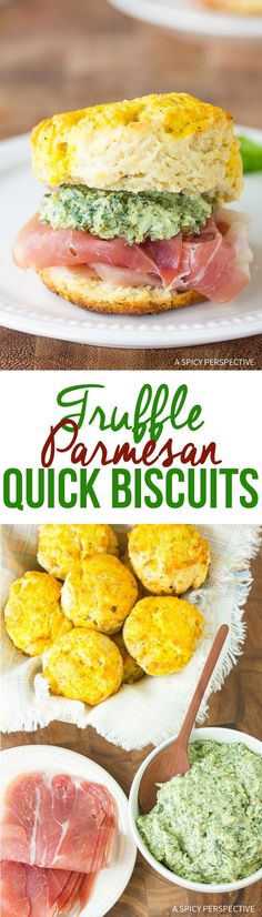 A dressed-up Quick Biscuit Recipe just in time for Easter. This elegant version of easy homemade biscuits is loaded creamy pesto and prosciutto! Quick Biscuit Recipe, Quick Biscuits, Easy Homemade Biscuits, Best Bread Recipe, Delicious Breakfast Recipes, Yummy Food, Scone Recipes, Sweets Recipes, Bread Recipes