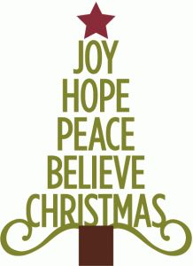 Silhouette Online Store   View Design #53031: Joy Hope Peace Christmas Tree