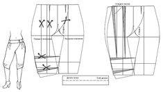 Pattern stylish pants with the smell. Выкройка стильные брюки с запахом.